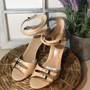 "NEW -Ann Taylor 4""Heels - Cream Color Leather-Sz 7"